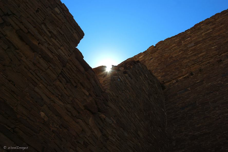Sunrise over Chaco Canyon